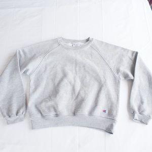 Champion Tops - Champion Oversized Size S Gray Sweatshirt
